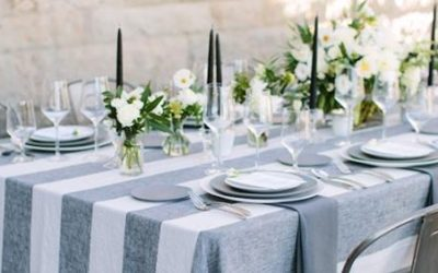 Make a statement at your next event with beautifully textured and colored linens!